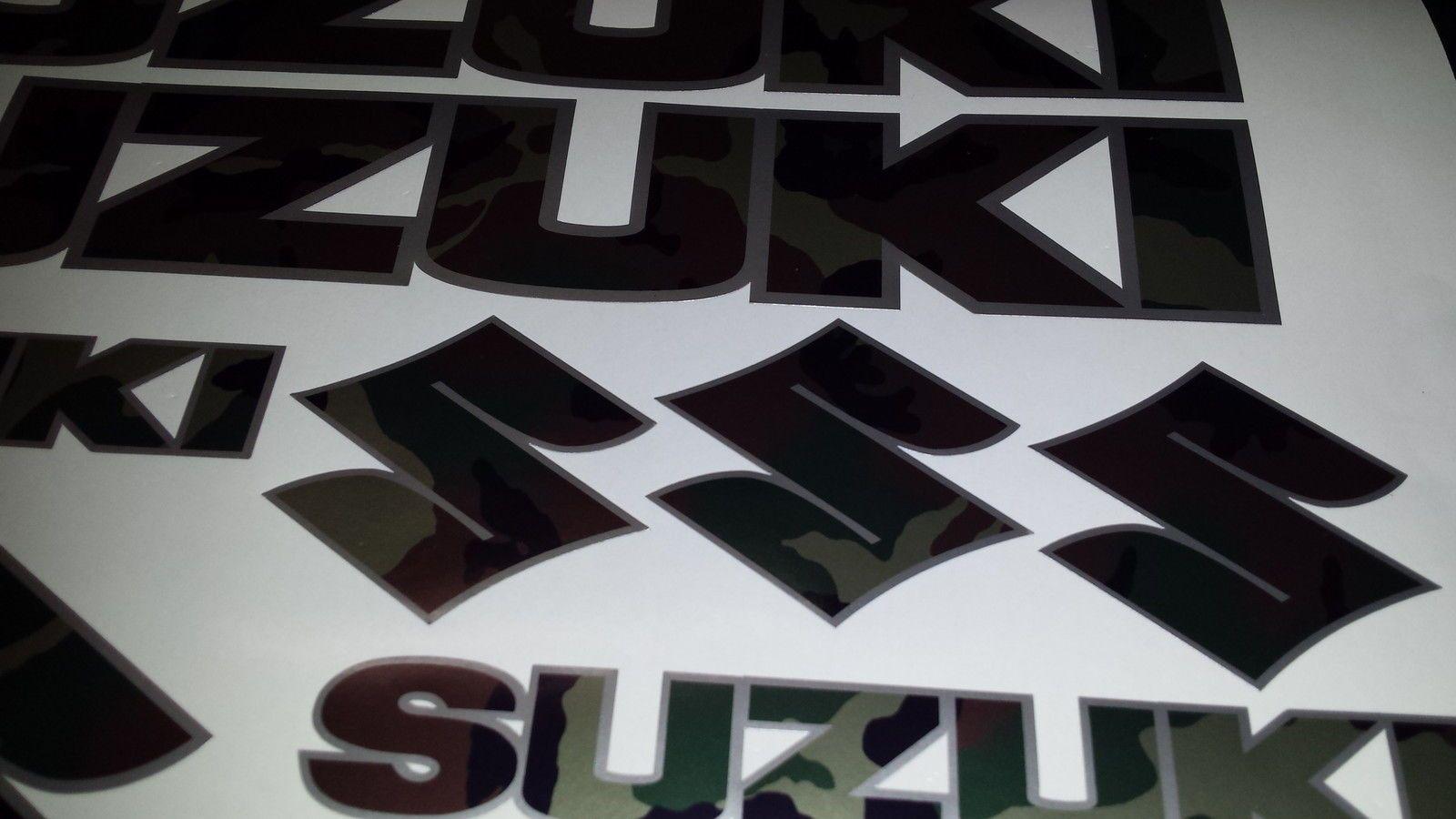 Suzuki Stickers Cammo Amp Silver Gsx Vstrom Bandit Gsf Dr Dl